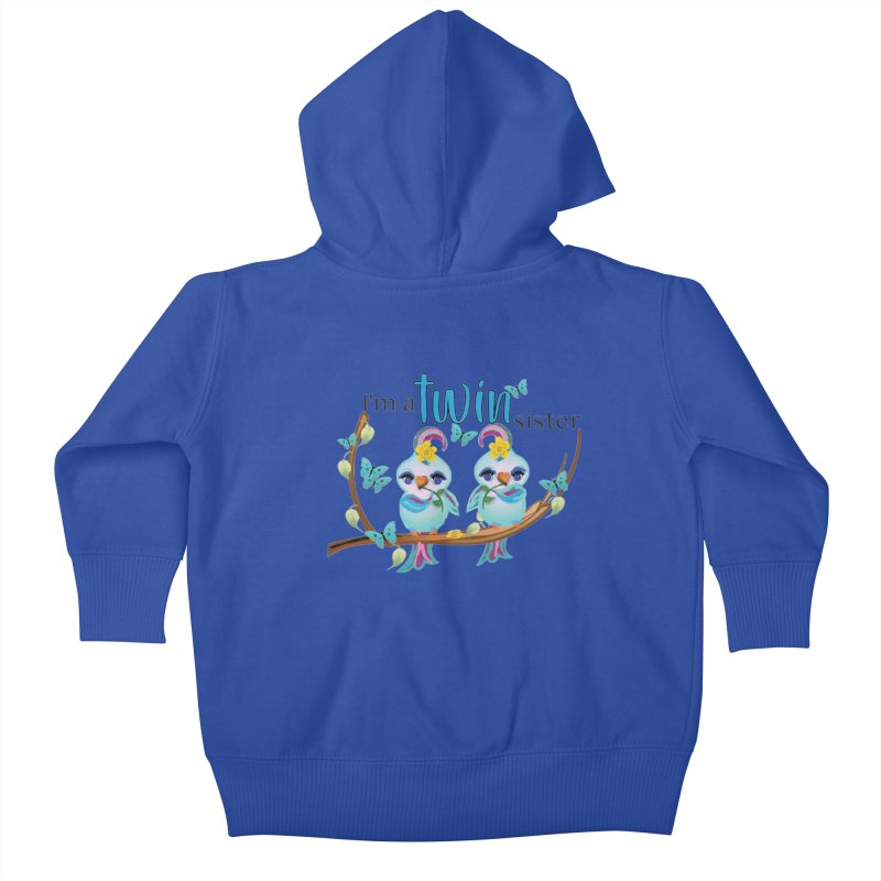 I'm a TWIN sister Kids Baby Zip-Up Hoody by MyInspirationalGifts Artist Shop