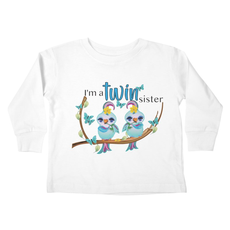 I'm a TWIN sister Kids Toddler Longsleeve T-Shirt by MyInspirationalGifts Artist Shop