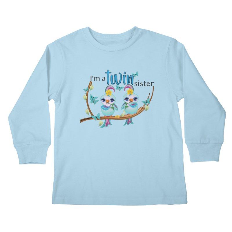 I'm a TWIN sister Kids Longsleeve T-Shirt by MyInspirationalGifts Artist Shop
