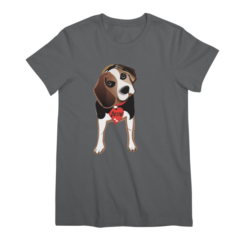 Beagle Bestie Women's Premium T-Shirt by MyInspirationalGifts Artist Shop