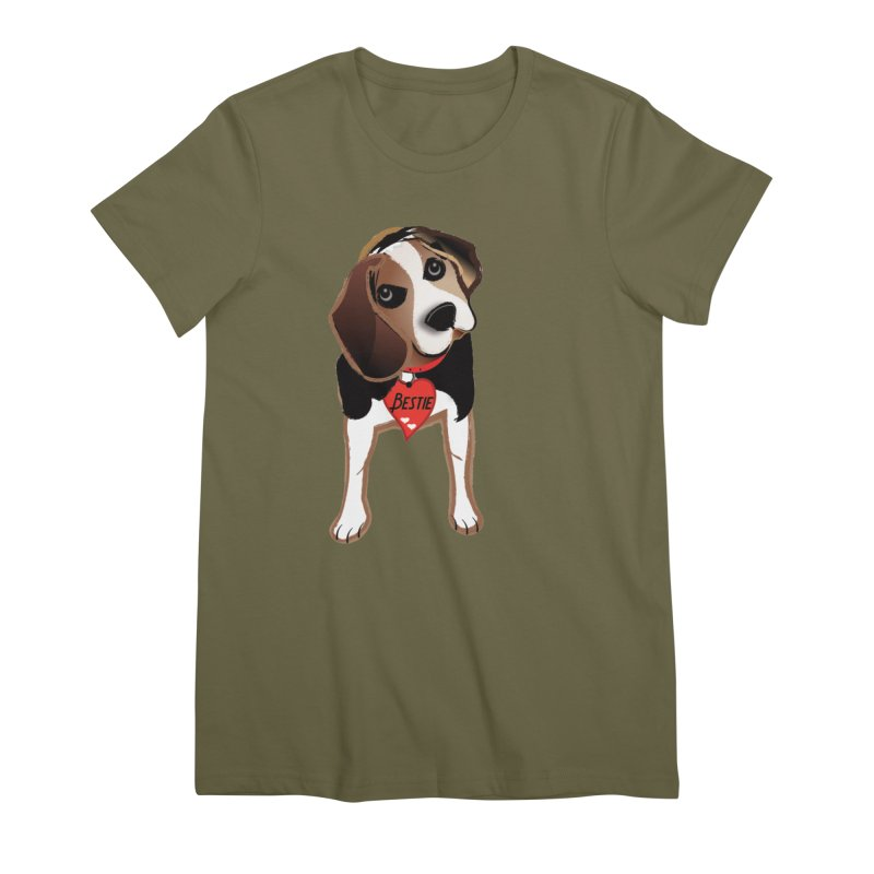 Beagle Bestie Women's Premium T-Shirt by MyInspirationalGifts Artist Shop