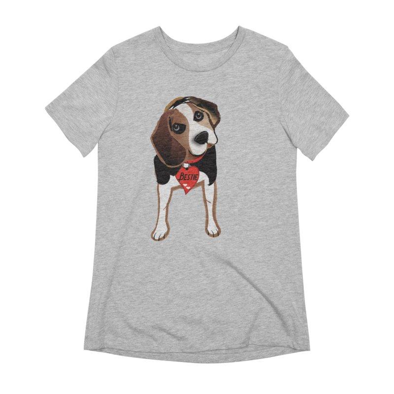 Beagle Bestie Women's Extra Soft T-Shirt by MyInspirationalGifts Artist Shop