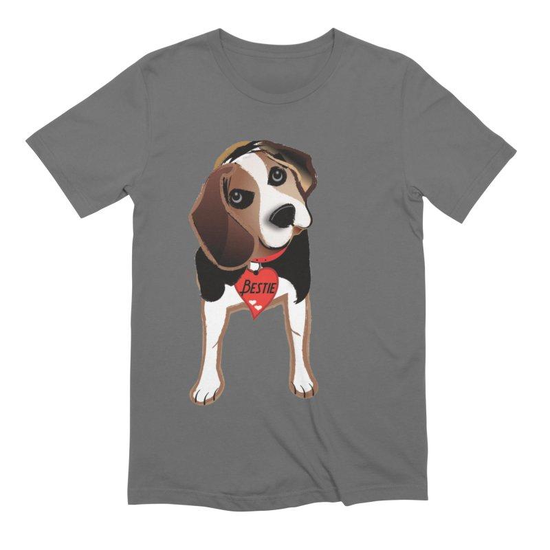Beagle Bestie Men's Extra Soft T-Shirt by MyInspirationalGifts Artist Shop