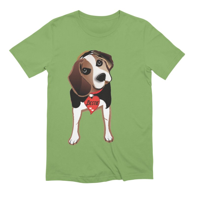 Beagle Bestie Men's Extra Soft T-Shirt by MyInspirationalGifts Artist Shop