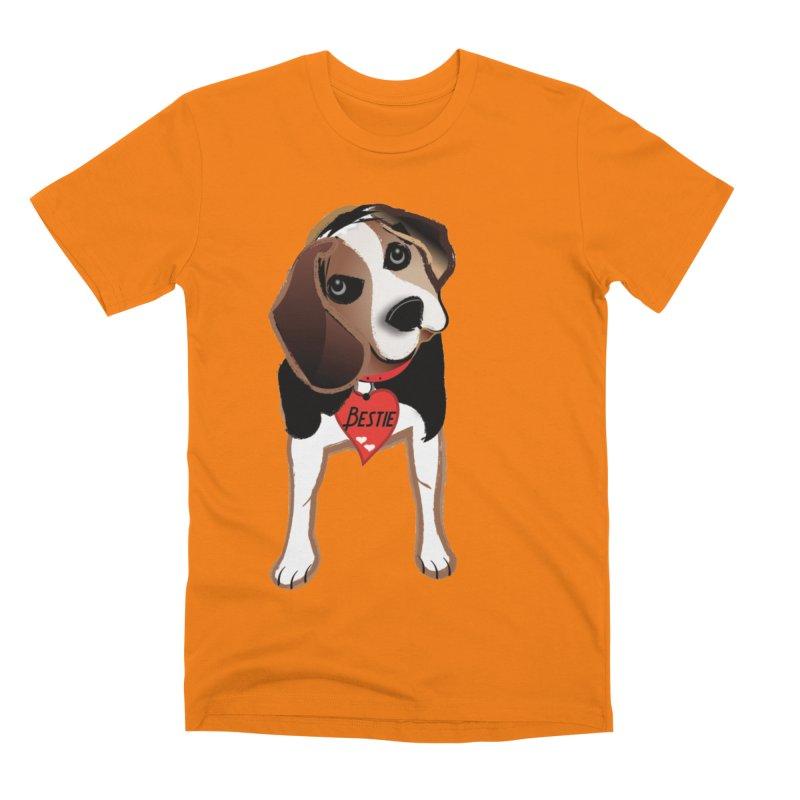 Beagle Bestie Men's Premium T-Shirt by MyInspirationalGifts Artist Shop