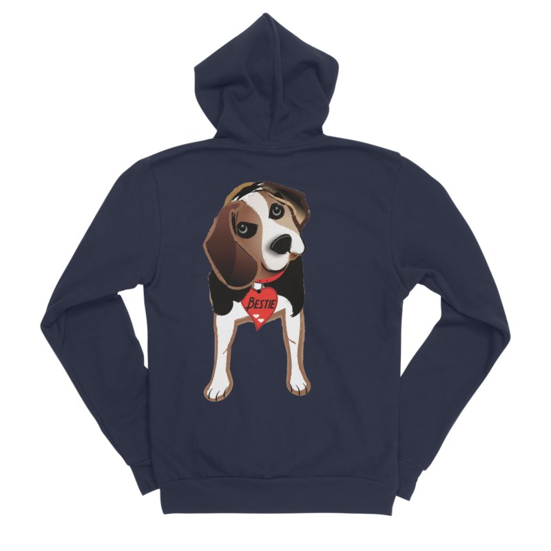 Beagle Bestie Women's Sponge Fleece Zip-Up Hoody by MyInspirationalGifts Artist Shop