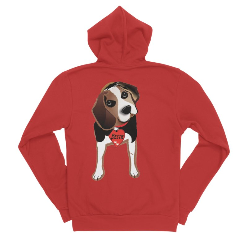 Beagle Bestie Men's Sponge Fleece Zip-Up Hoody by MyInspirationalGifts Artist Shop