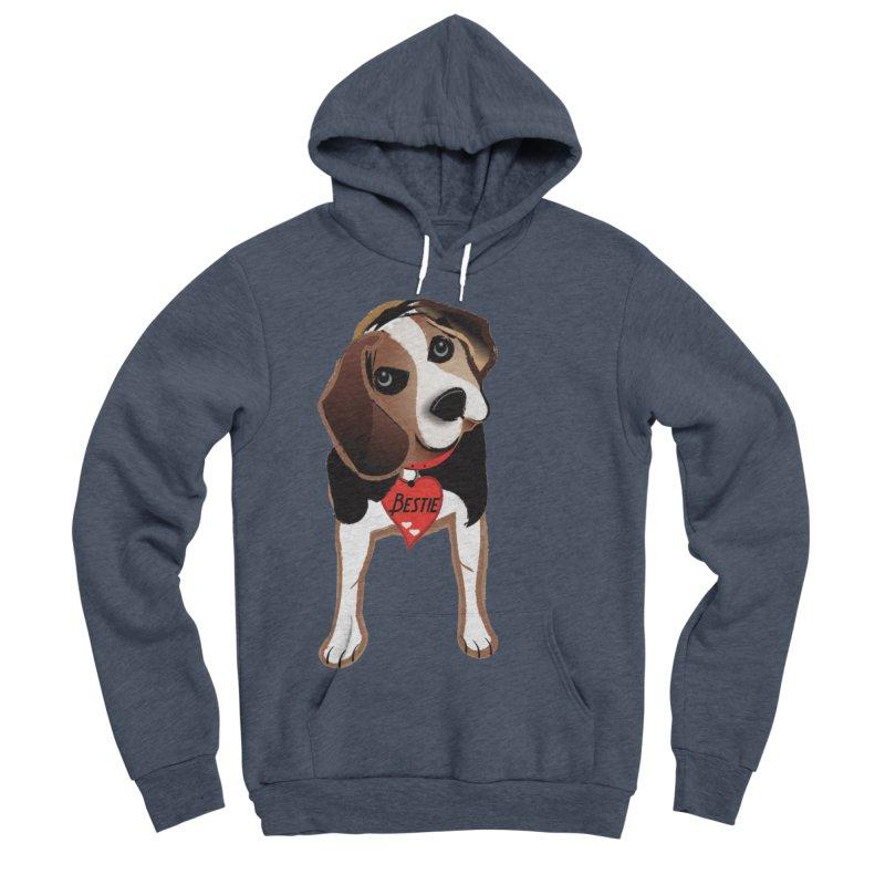 Beagle Bestie Women's Sponge Fleece Pullover Hoody by MyInspirationalGifts Artist Shop