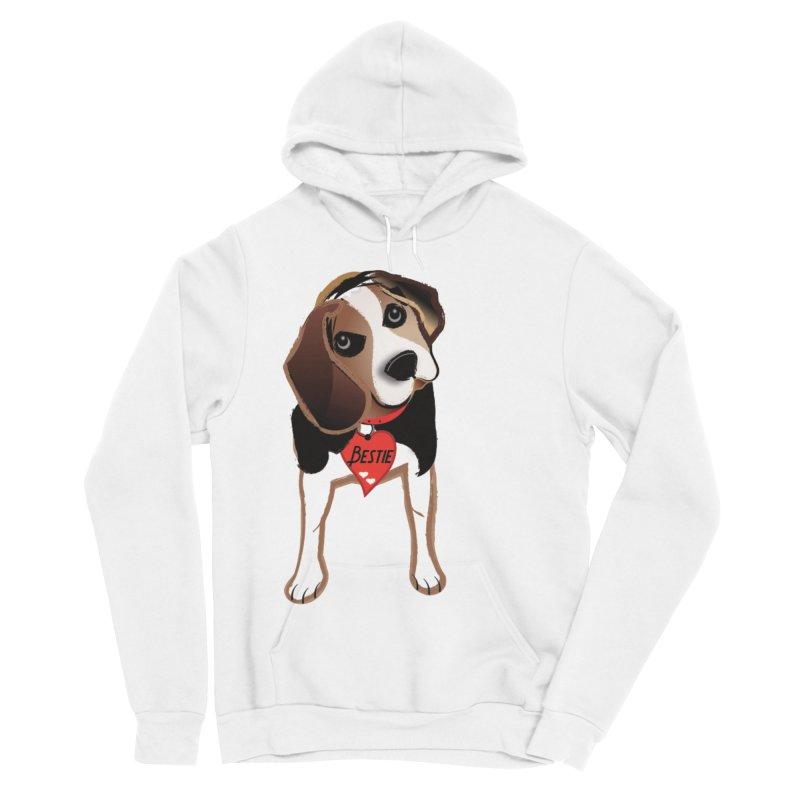 Beagle Bestie Men's Sponge Fleece Pullover Hoody by MyInspirationalGifts Artist Shop