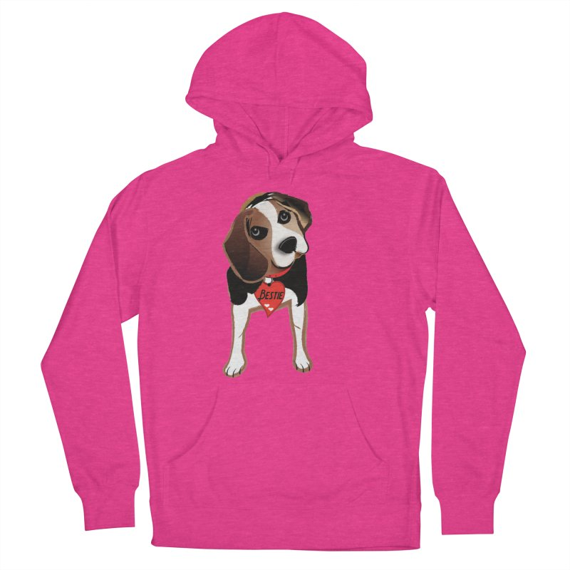 Beagle Bestie Men's French Terry Pullover Hoody by MyInspirationalGifts Artist Shop