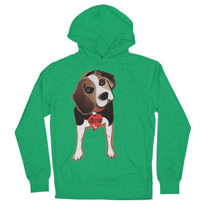Beagle Bestie Women's French Terry Pullover Hoody by MyInspirationalGifts Artist Shop