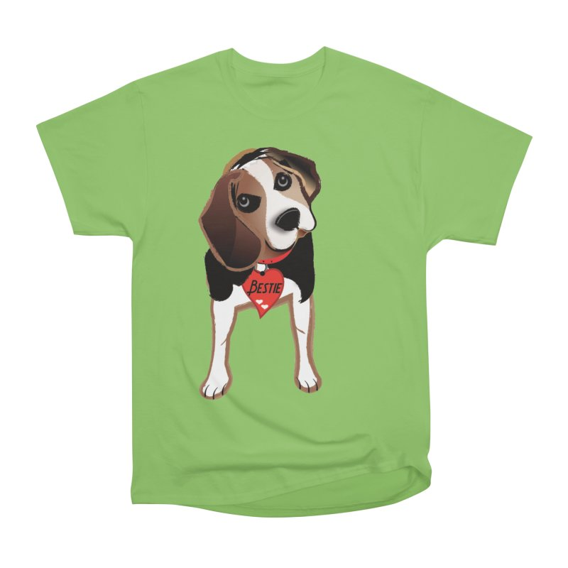 Beagle Bestie Women's Heavyweight Unisex T-Shirt by MyInspirationalGifts Artist Shop