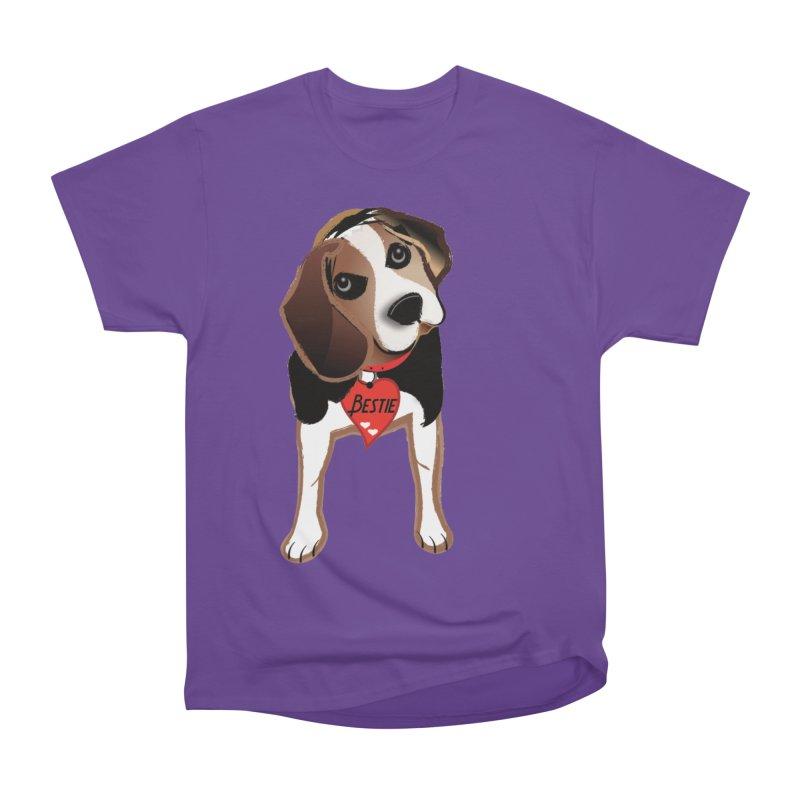 Beagle Bestie Men's Heavyweight T-Shirt by MyInspirationalGifts Artist Shop