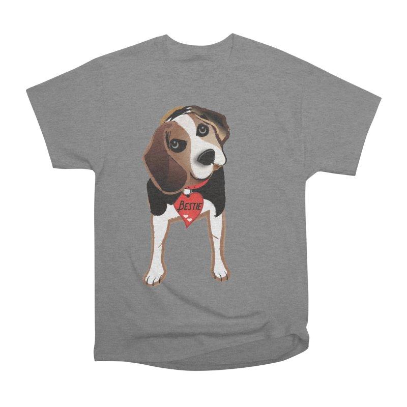 Beagle Bestie Women's Heavyweight Unisex T-Shirt by MyInspirationalGifts Artist Shop
