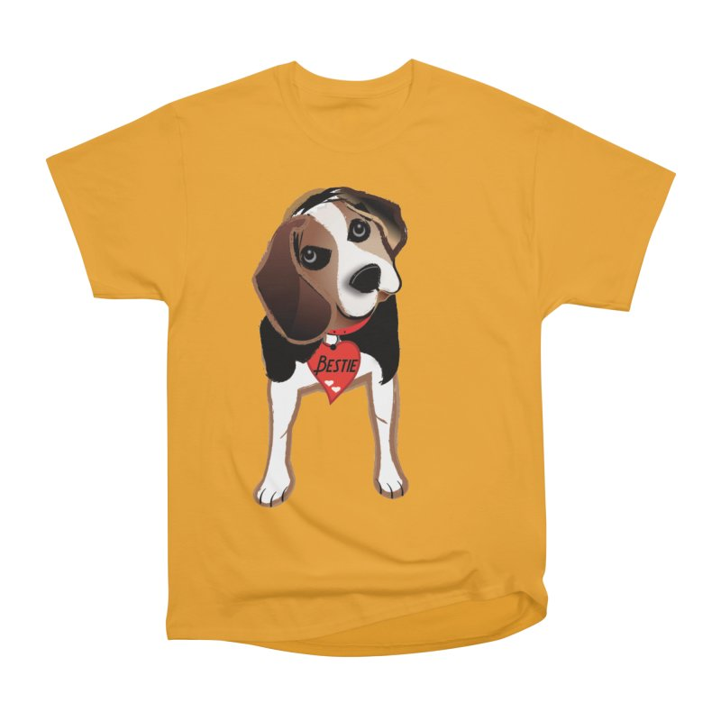Beagle Bestie Men's Heavyweight T-Shirt by MyInspirationalGifts Artist Shop