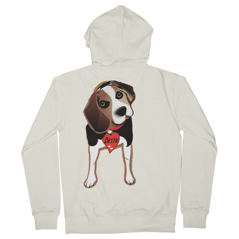 Beagle Bestie Women's French Terry Zip-Up Hoody by MyInspirationalGifts Artist Shop