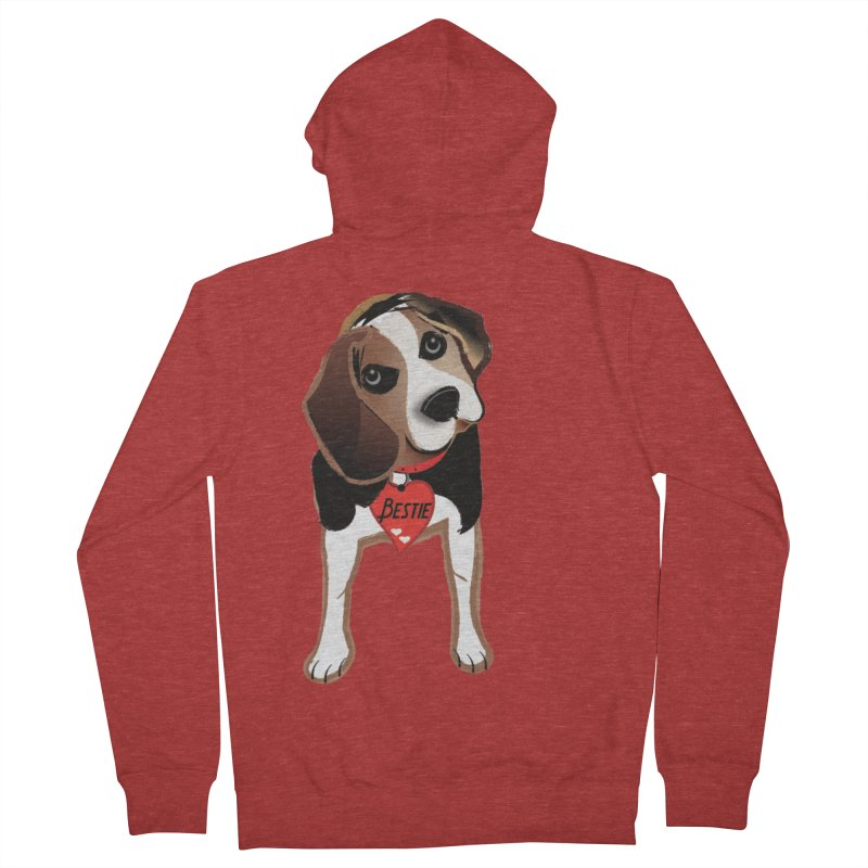 Beagle Bestie Men's French Terry Zip-Up Hoody by MyInspirationalGifts Artist Shop