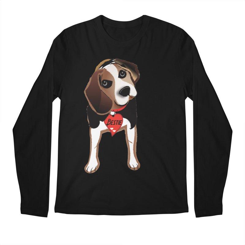 Beagle Bestie Men's Regular Longsleeve T-Shirt by MyInspirationalGifts Artist Shop