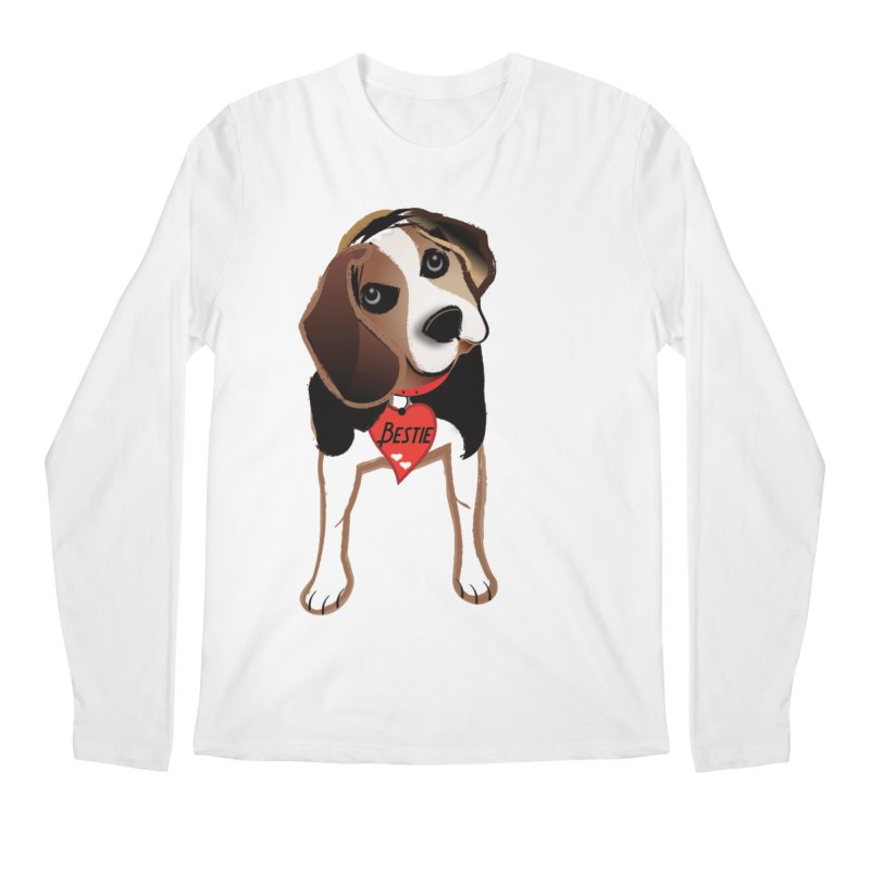 Beagle Bestie Men's Regular Longsleeve T-Shirt by MyInspirationalGifts Artist Shop