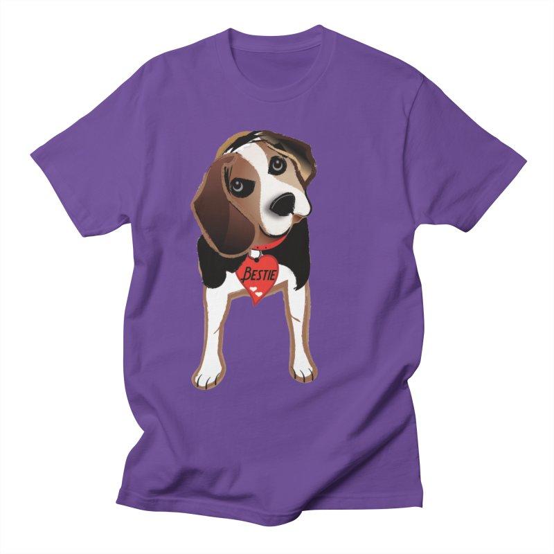 Beagle Bestie Men's Regular T-Shirt by MyInspirationalGifts Artist Shop