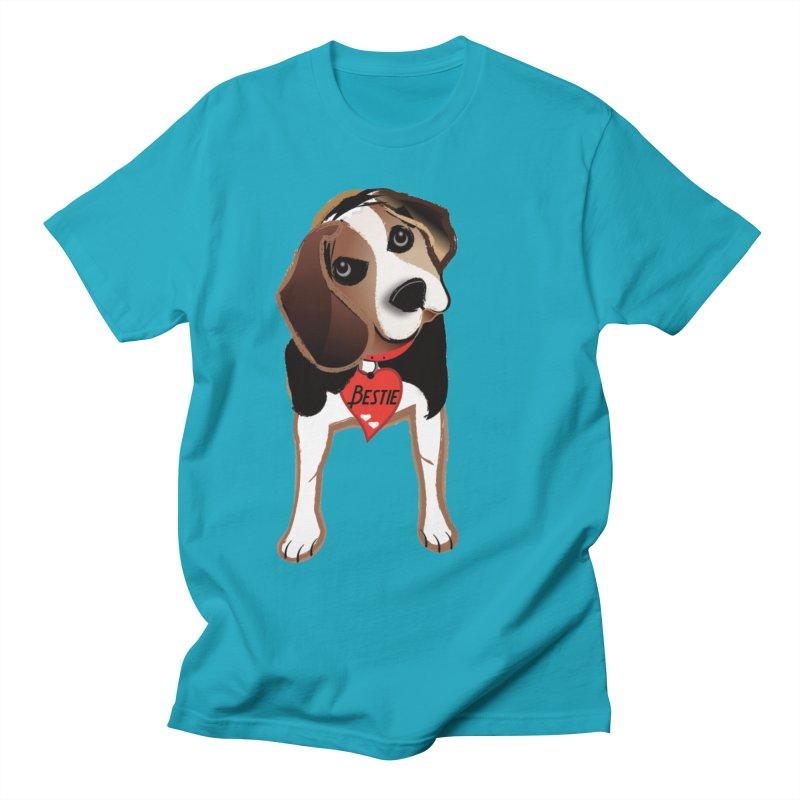 Beagle Bestie Women's Regular Unisex T-Shirt by MyInspirationalGifts Artist Shop