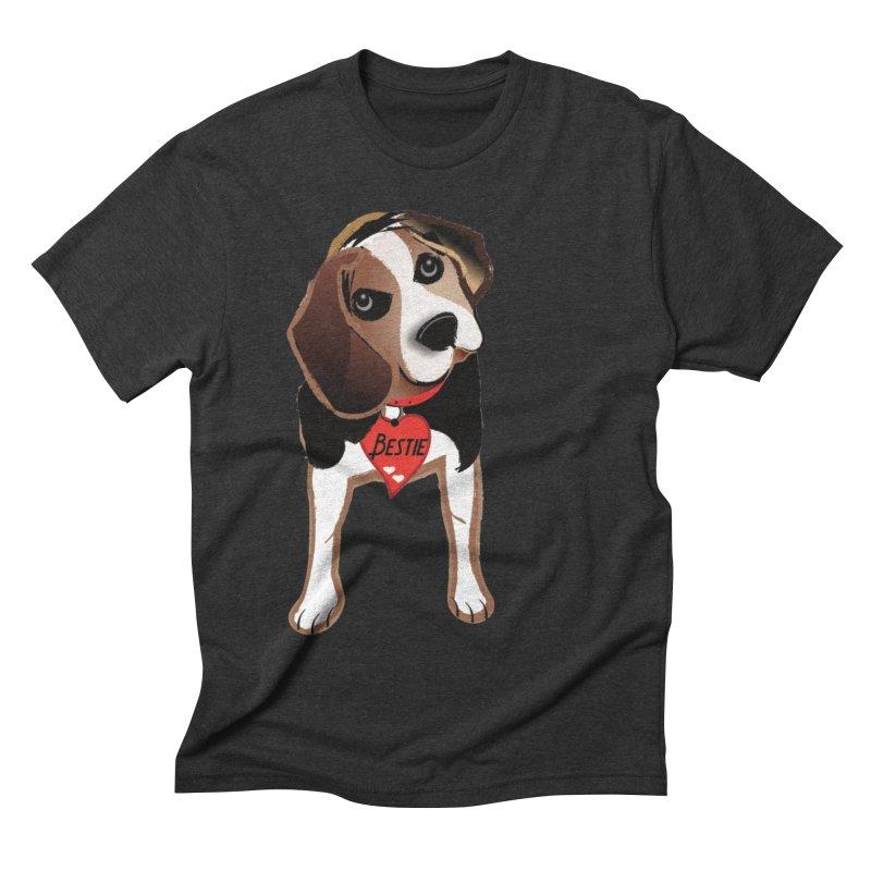 Beagle Bestie Men's Triblend T-Shirt by MyInspirationalGifts Artist Shop