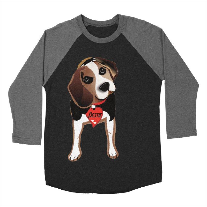 Beagle Bestie Women's Baseball Triblend Longsleeve T-Shirt by MyInspirationalGifts Artist Shop