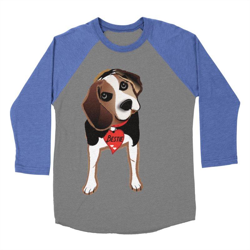 Beagle Bestie Men's Baseball Triblend Longsleeve T-Shirt by MyInspirationalGifts Artist Shop