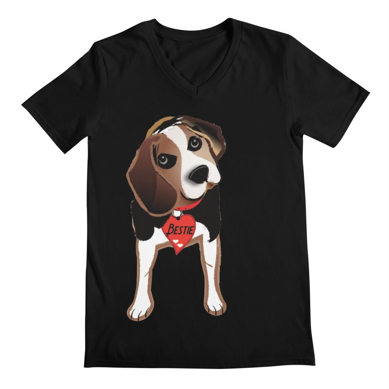 Beagle Bestie Men's Regular V-Neck by MyInspirationalGifts Artist Shop