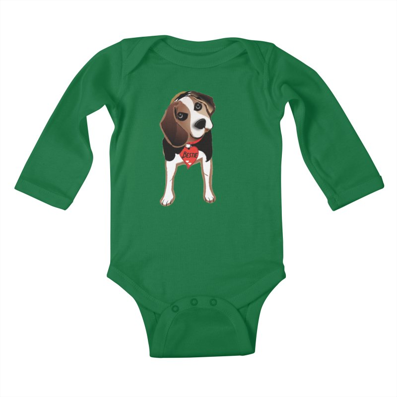 Beagle Bestie Kids Baby Longsleeve Bodysuit by MyInspirationalGifts Artist Shop