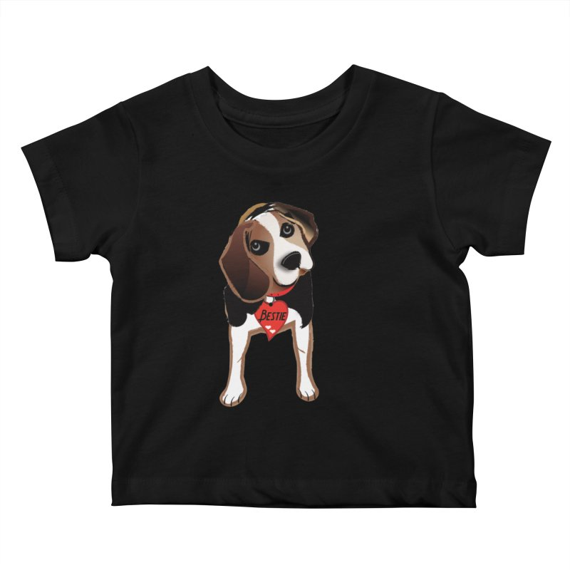 Beagle Bestie Kids Baby T-Shirt by MyInspirationalGifts Artist Shop