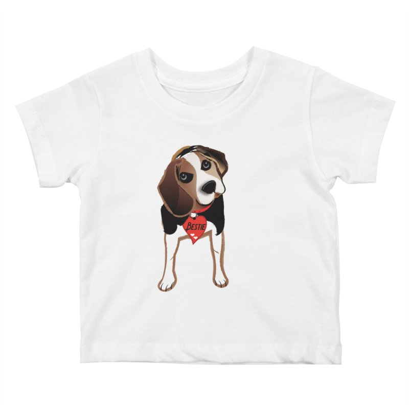 Beagle Bestie Kids Baby T-Shirt by MyInspirationalGifts Artist Shop