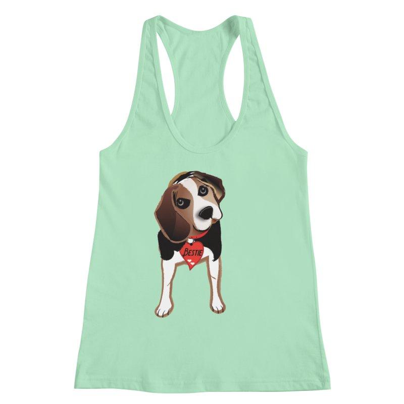 Beagle Bestie Women's Racerback Tank by MyInspirationalGifts Artist Shop