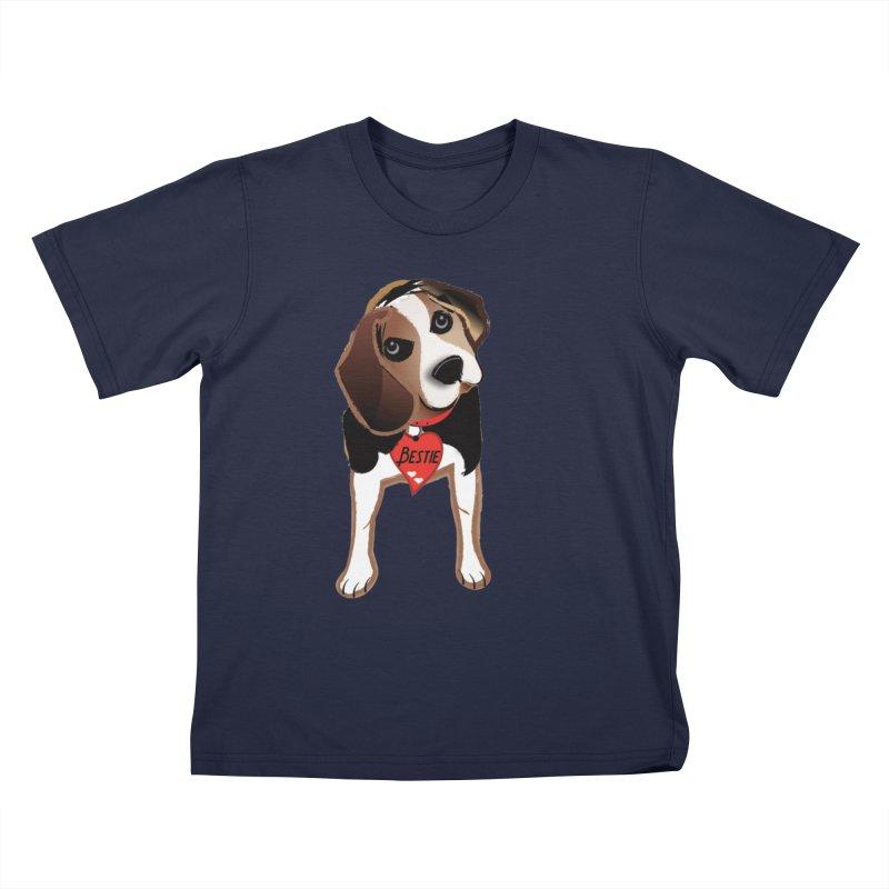 Beagle Bestie Kids T-Shirt by MyInspirationalGifts Artist Shop