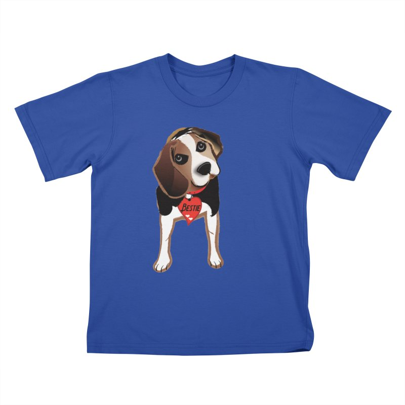 Beagle Bestie Kids T-Shirt by MyInspirationalGifts Artist Shop