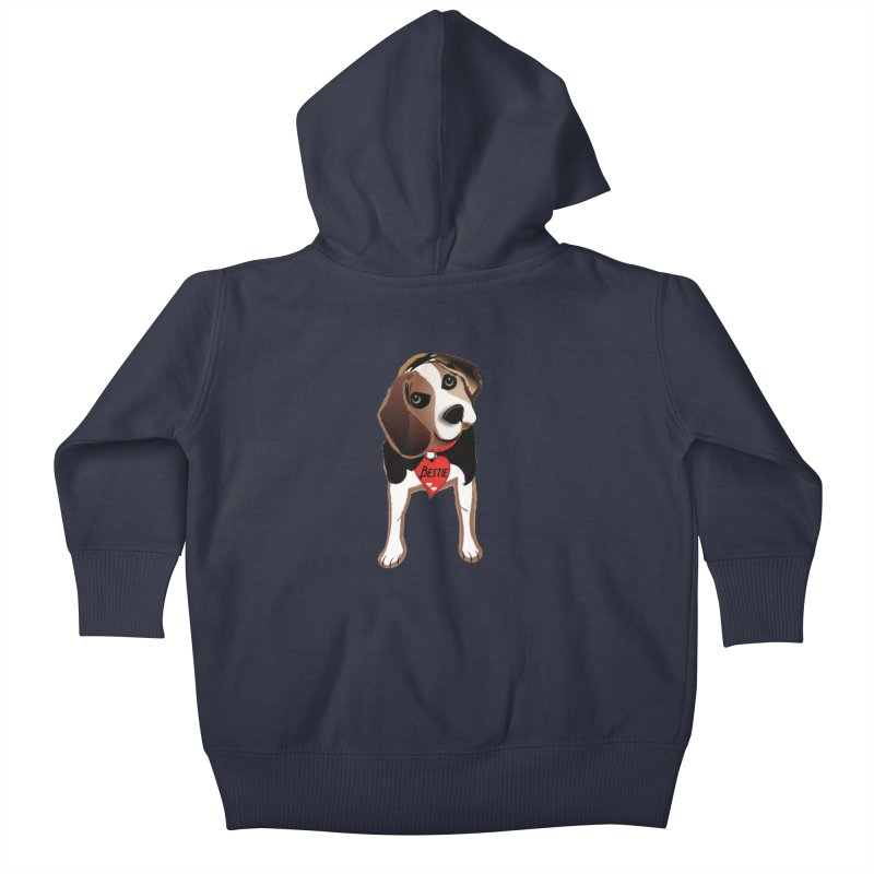 Beagle Bestie Kids Baby Zip-Up Hoody by MyInspirationalGifts Artist Shop