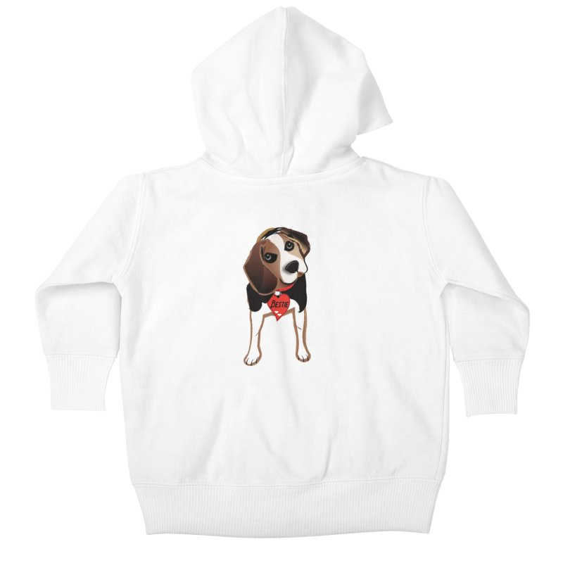 Beagle Bestie Kids Baby Zip-Up Hoody by MyInspirationalGifts Artist Shop