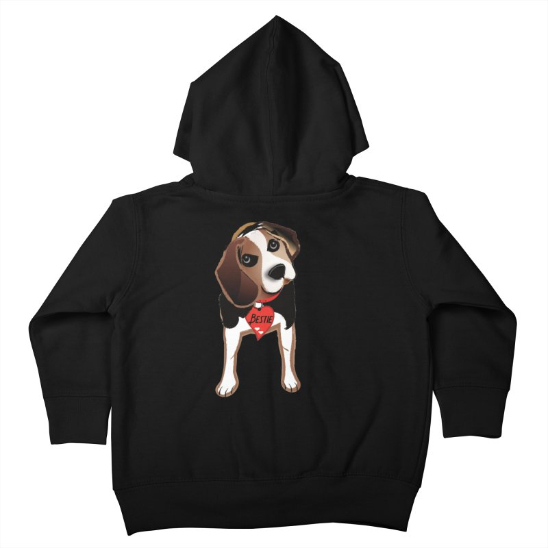 Beagle Bestie Kids Toddler Zip-Up Hoody by MyInspirationalGifts Artist Shop