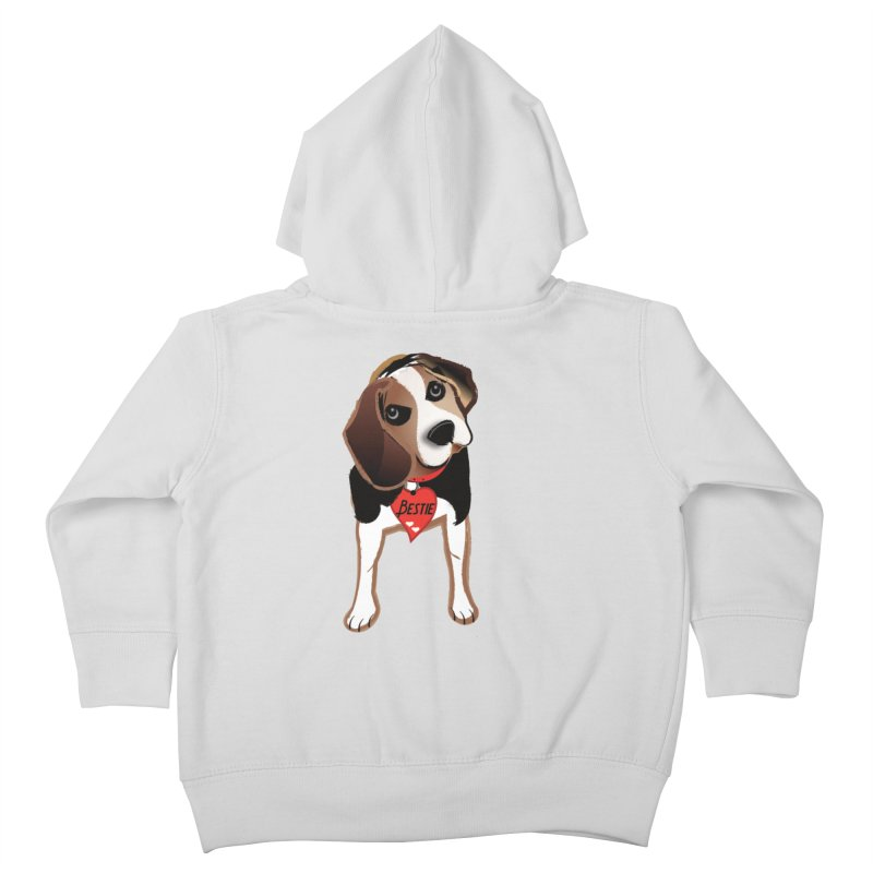 Beagle Bestie Kids Toddler Zip-Up Hoody by MyInspirationalGifts Artist Shop
