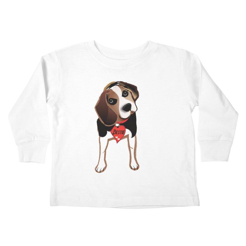 Beagle Bestie Kids Toddler Longsleeve T-Shirt by MyInspirationalGifts Artist Shop