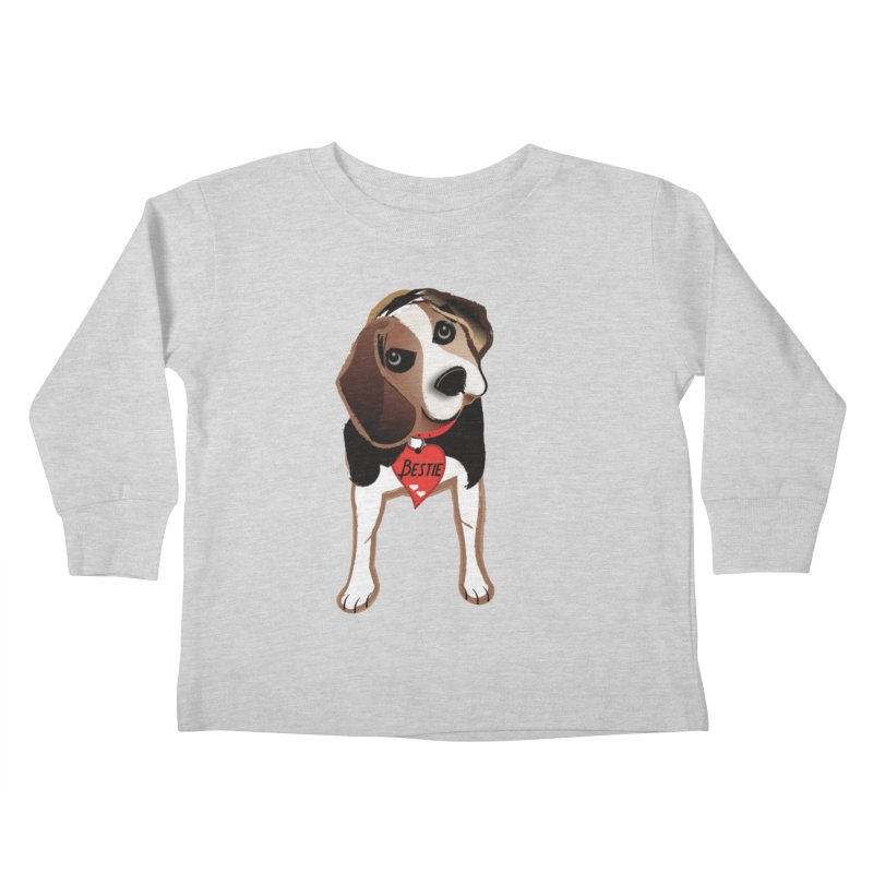 Beagle Bestie Kids Toddler Longsleeve T-Shirt by MyInspirationalGifts Artist Shop