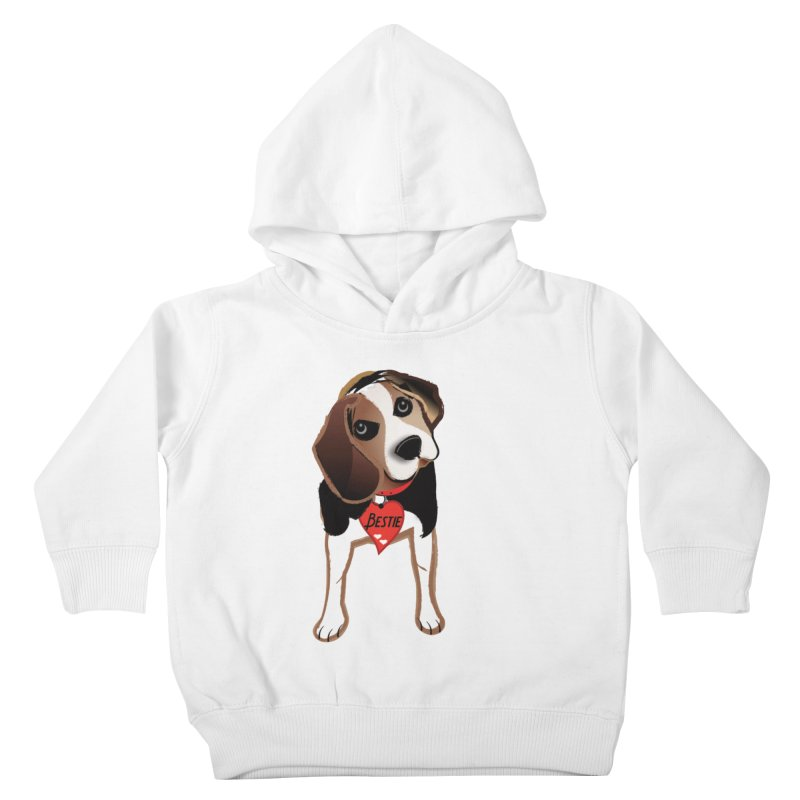 Beagle Bestie Kids Toddler Pullover Hoody by MyInspirationalGifts Artist Shop