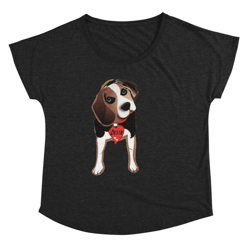 Beagle Bestie Women's Dolman Scoop Neck by MyInspirationalGifts Artist Shop