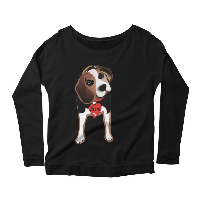 Beagle Bestie Women's Scoop Neck Longsleeve T-Shirt by MyInspirationalGifts Artist Shop