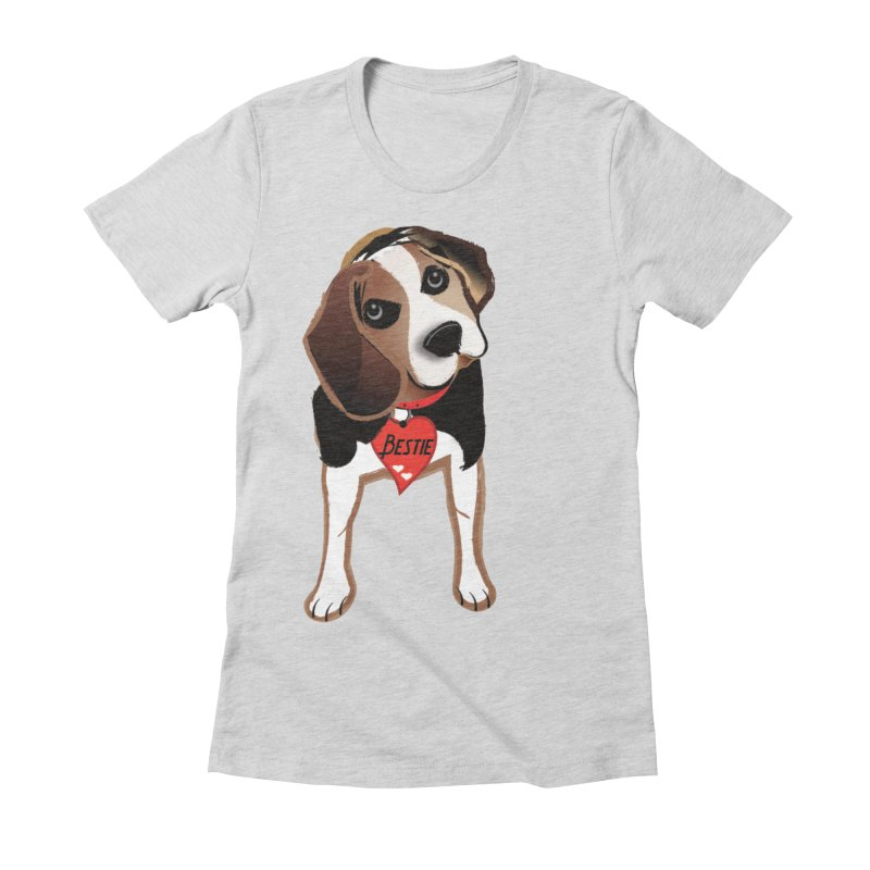 Beagle Bestie Women's Fitted T-Shirt by MyInspirationalGifts Artist Shop
