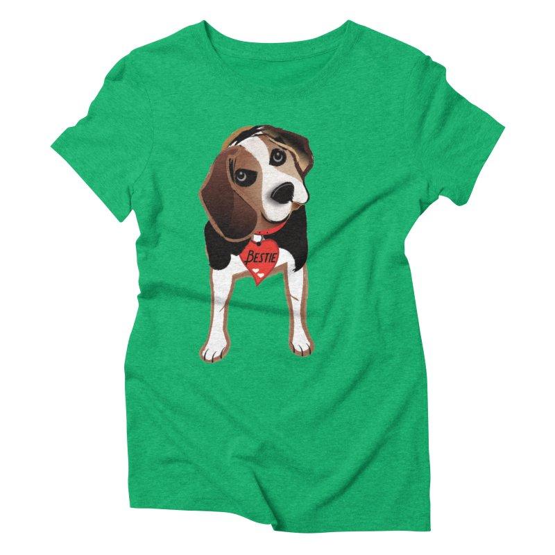 Beagle Bestie Women's Triblend T-Shirt by MyInspirationalGifts Artist Shop