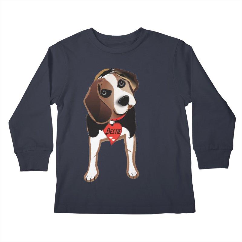 Beagle Bestie Kids Longsleeve T-Shirt by MyInspirationalGifts Artist Shop