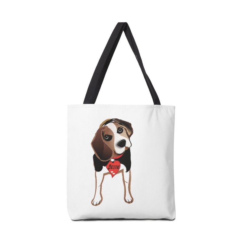 Beagle Bestie Accessories Tote Bag Bag by MyInspirationalGifts Artist Shop