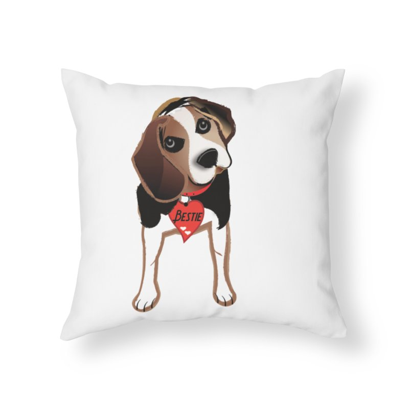Beagle Bestie Home Throw Pillow by MyInspirationalGifts Artist Shop