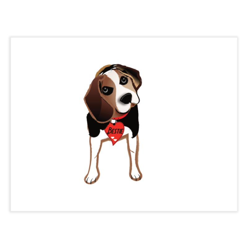 Beagle Bestie Home Fine Art Print by MyInspirationalGifts Artist Shop